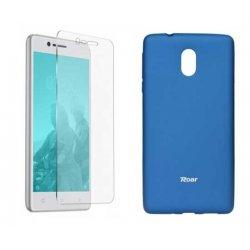 Silikonski etui Roar, modra+ zaščitno steklo za Nokia 3
