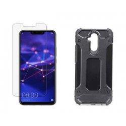 "Etui ""Armor"" +zaščitno steklo za Huawei Mate 20 Lite, črna barva"