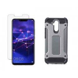 "Etui ""Armor"" +zaščitno steklo za Huawei Mate 20 Lite, siva barva"