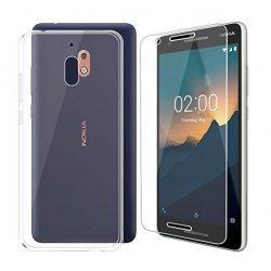 Silikonski etui, prozoren+ zaščitno steklo za Nokia 2.1