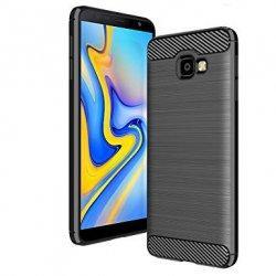 "Etui ""Carbon Case"" za Samsung Galaxy J4 Plus, črna barva"