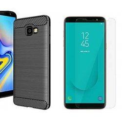 "Etui ""Carbon Case"" +zaščitno steklo za Samsung Galaxy J4 Plus"