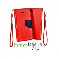 Preklopna Torbica za HTC Desire 310 Rdeča barva