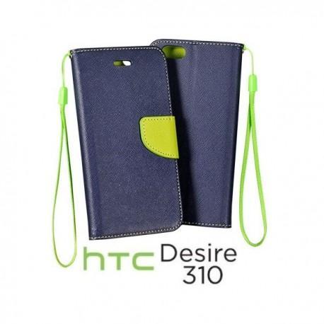 Preklopna Torbica za HTC Desire 310 Modra barva