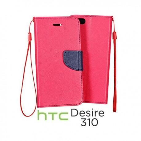 Preklopna Torbica za HTC Desire 310 Pink barva