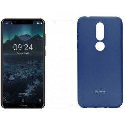Silikonski etui Roar, modra+ zaščitno steklo za Nokia 7.1