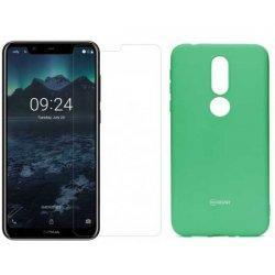 Silikonski etui Roar, mint+ zaščitno steklo za Nokia 7.1