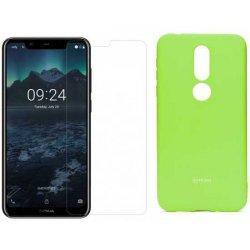 Silikonski etui Roar, zelena+ zaščitno steklo za Nokia 7.1