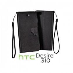 Preklopna Torbica za HTC Desire 310 Črna barva