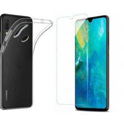 Silikonski etui, prozoren+ zaščitno steklo za Huawei P Smart 2019