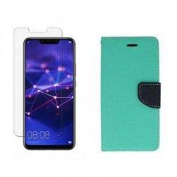 "Etui ""Fancy"" + zaščitno steklo za Huawei Mate 20 Lite, mint barva"