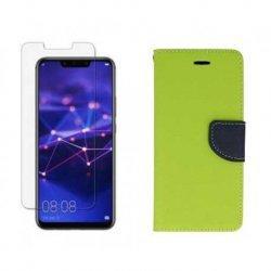 """Etui """"Fancy"""" + zaščitno steklo za Huawei Mate 20 Lite, zelena barva"""