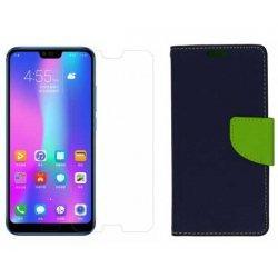 """Etui """"Fancy"""" + zaščitno steklo za Huawei Honor 10, modra barva"""