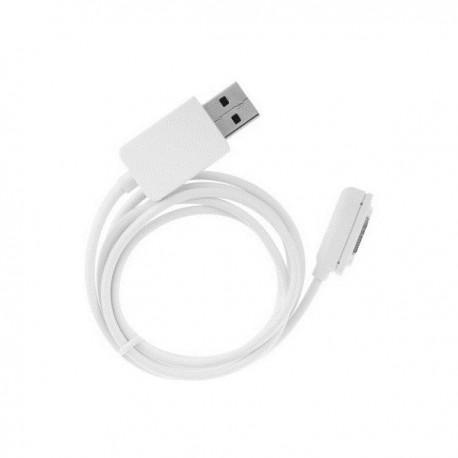 Magnetni USB kabel Sony Xperia Z1, Z2,Z3,Z1 Compact Bela barva