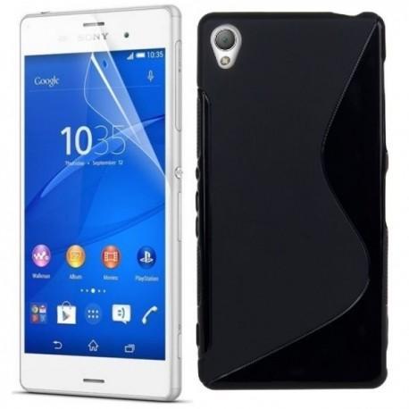 Silikon etui za Sony Xperia Z3 +Folija ekrana , Črna barva