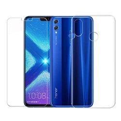 Silikonski etui, prozoren+ zaščitno steklo za Huawei Honor 8X