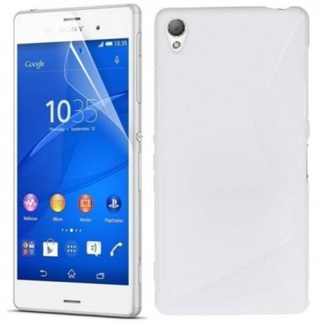 Silikon etui za Sony Xperia Z3 +Folija ekrana ,Bela barva