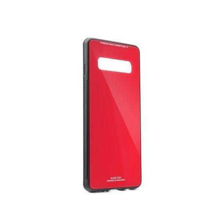 Glass Case za Samsung Galaxy S10 Plus, rdeča barva