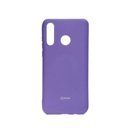 "Silikonski etui ""Roar All Day"" za Huawei P30 Lite, vijolična barva"