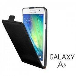 Preklopna Torbica za Samsung Galaxy A3 + Zaščitna folija ekrana ,Črna barva