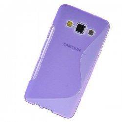 Silikon etui za Samsung Galaxy A3 +Folija ekrana Vijola barva