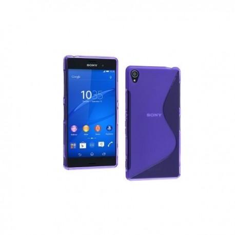 Silikon etui za Sony Xperia Z3 +Folija ekrana ,Vijola barva
