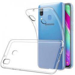 Silikonski etui za Samsung Galaxy A40, Prozorna barva