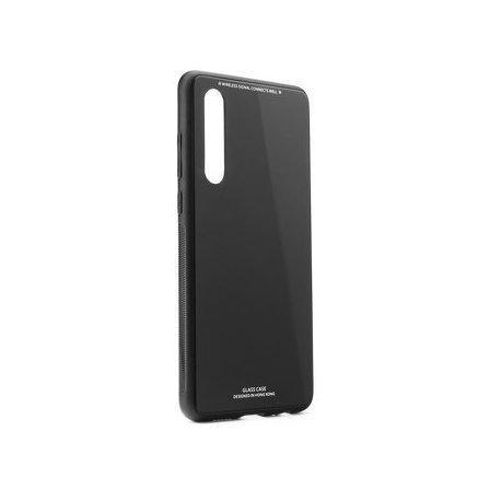 Glass Case za Samsung Galaxy A50, črna barva