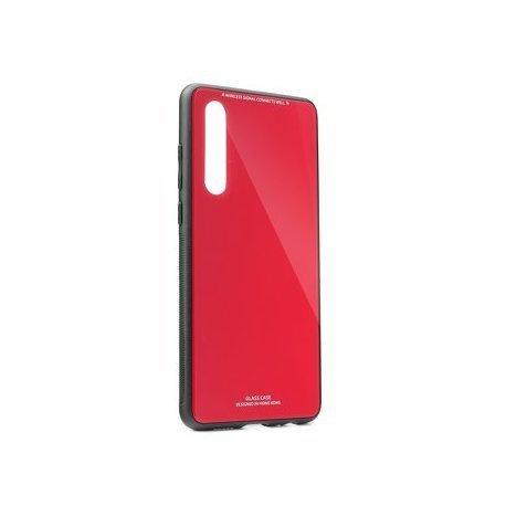Glass Case za Samsung Galaxy A50, rdeča barva