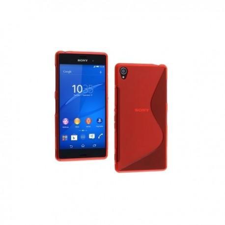 Silikon etui za Sony Xperia Z3 +Folija ekrana ,Rdeča barva