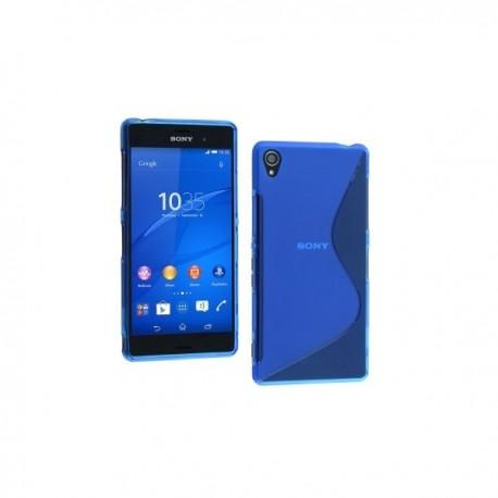 Silikon etui za Sony Xperia Z3 +Folija ekrana ,Modra barva