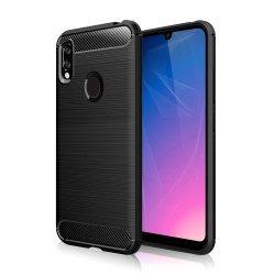 """Etui """"Carbon Case"""" za Huawei Y6 2019, črna barva"""
