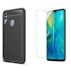 "Etui ""Carbon Case"" +zaščitno steklo za Huawei P Smart 2019"