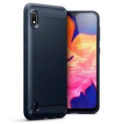 "Etui ""Carbon Case"" za Samsung Galaxy A10, črna barva"