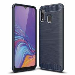 "Etui ""Carbon Case"" za Samsung Galaxy A30, črna barva"