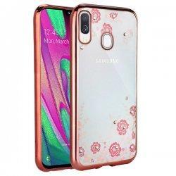 "Etui ""Diamond Case"" za Samsung Galaxy A40, pink barva"
