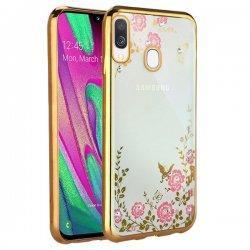"""Etui """"Diamond Case"""" za Samsung Galaxy A40, zlata barva"""