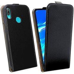 "Preklopna torbica, etui ""flexi"" za Huawei Y7 2019, črna barva"