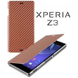 Torbica za Sony Xperia Z3 Preklopna ,Book Case - Carbon Bronze Barva SMA5151BZ