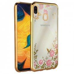 """Etui """"Diamond Case"""" za Samsung Galaxy A30, zlata barva"""