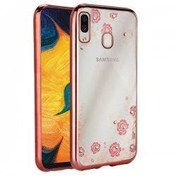 "Etui ""Diamond Case"" za Samsung Galaxy A30, pink barva"