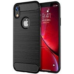 "Etui ""Carbon Case"" za Apple iPhone XR, črna barva"