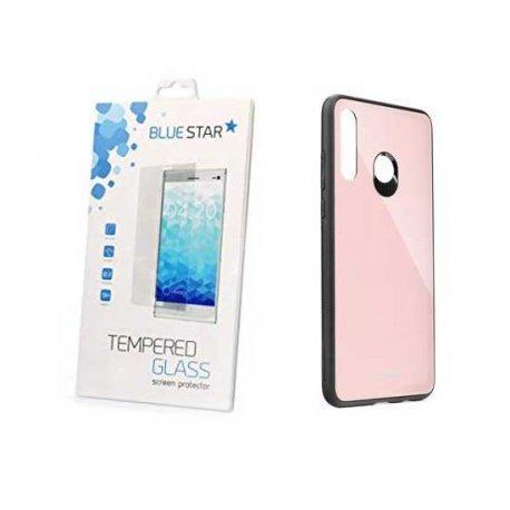 Glass Case za Huawei P30 Lite+ zaščitno steklo, pink barva