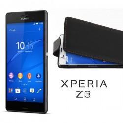 Preklopna Torbica za Sony Xperia Z3+Zaščitna folija ekrana,Črna barva
