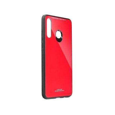 Glass Case za Huawei P40 Lite E, rdeča barva