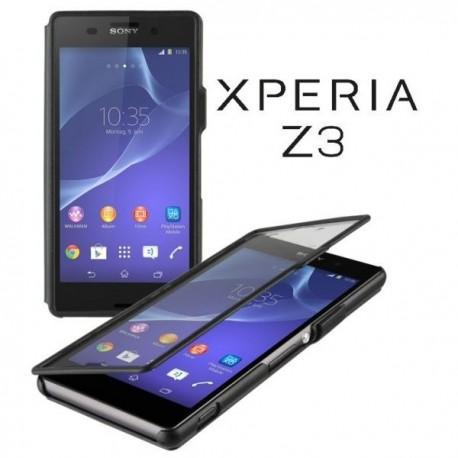Torbica za Sony Xperia Z3 Preklopna ,Book Case Touch- Črna Barva BCT5151B