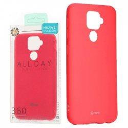 """Silikonski etui """"Roar All Day"""" za Huawei Mate 30 Lite, pink barva"""