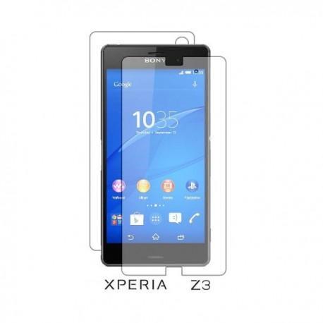 Zaščitna Folija ekrana za Sony Xperia Z3 Sprednja+Zadnja folija