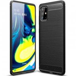 "Etui ""Carbon Case"" za Samsung Galaxy A71, črna barva"