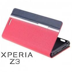 Preklopna Torbica za Sony Xperia Z3 Rdeča,Modra barva